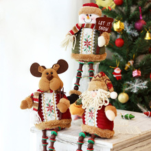 Eco-friendly Flannel Santa Claus Christmas Deer adornos de navidad christmas decorations for home новогодние украшения