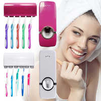 2 In 1 Toothbrush Sterilizer Lazy Toothbrush Holder Creative Automatic Toothpaste Squeezer Dispenser Home Bathroom Accessory Set
