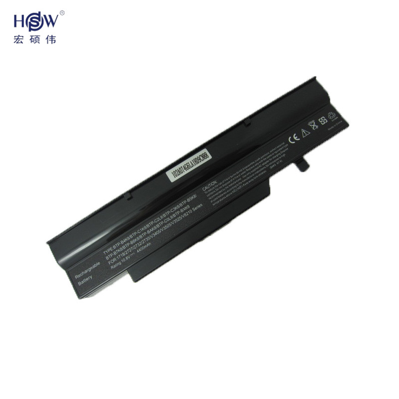HSW rechargeable laptop battery forMS2191,MS2192,MS2216,MS2228,MS2238,MS2239,3UR18650-2-T016 BTP-BAK8,BTP-B4K8,BTP-B5K8,BTP-B7K8