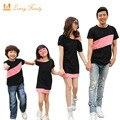 Olhar família clothing t-shirt especial ombro para vestidos filha da mãe de família roupas combinando para o filho pai roupas da família