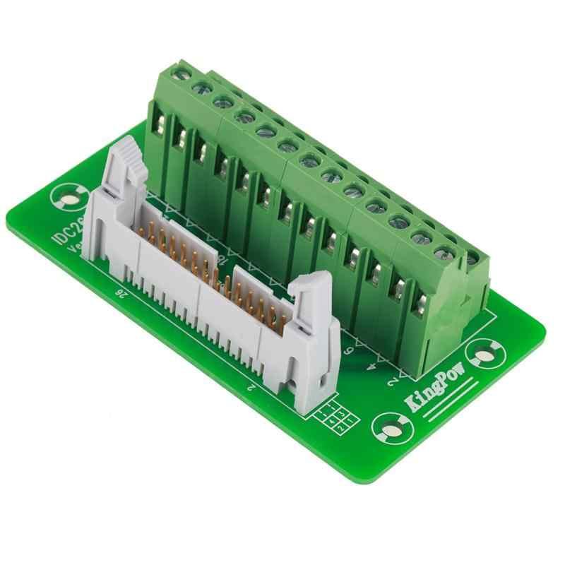 1 Conjunto de bloques de terminales IDC26P módulo DIN Rail 26Pin 5mm módulo de interfaz de montaje placa de conector macho de alta calidad