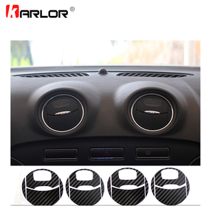 Image 1 - Autocollants pour la sortie de climatisation de voiture, en Fiber de carbone, décoration autocollante en vinyle pour Ford Mondeo MK3, accessoires de voiture, 4 pièces/ensemble