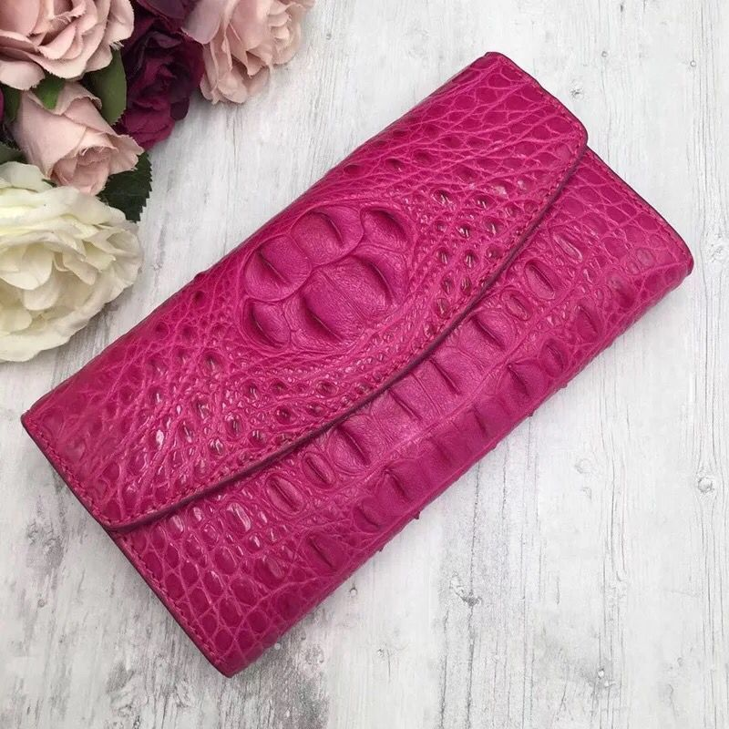 Authentic Crocodile Skin Women s Long Wallet Card Holders Real Alligator Leather Female Coin Pocket Lady