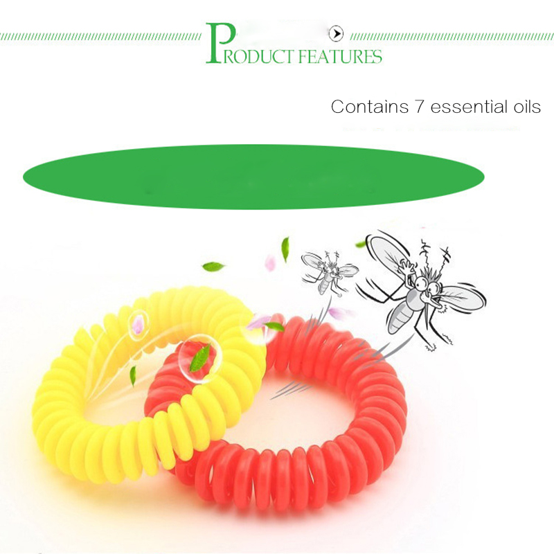 Image 2 - 10pcs Anti Mosquito Repellent Environmental Protection Bracelets Multicolor Pest Control Bracelets Camping Outdoor Adults Kids-in Repellents from Home & Garden