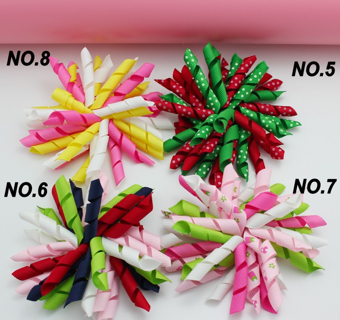 free shipping 32pcs 3 5 korker bows SEW ONES korker hair clips fashion corker hair bows