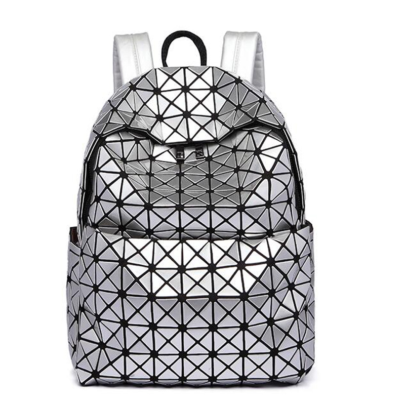 Women backpack 2016 geometric patchwork diamond lattice backpack famous brand mochila sac a dos