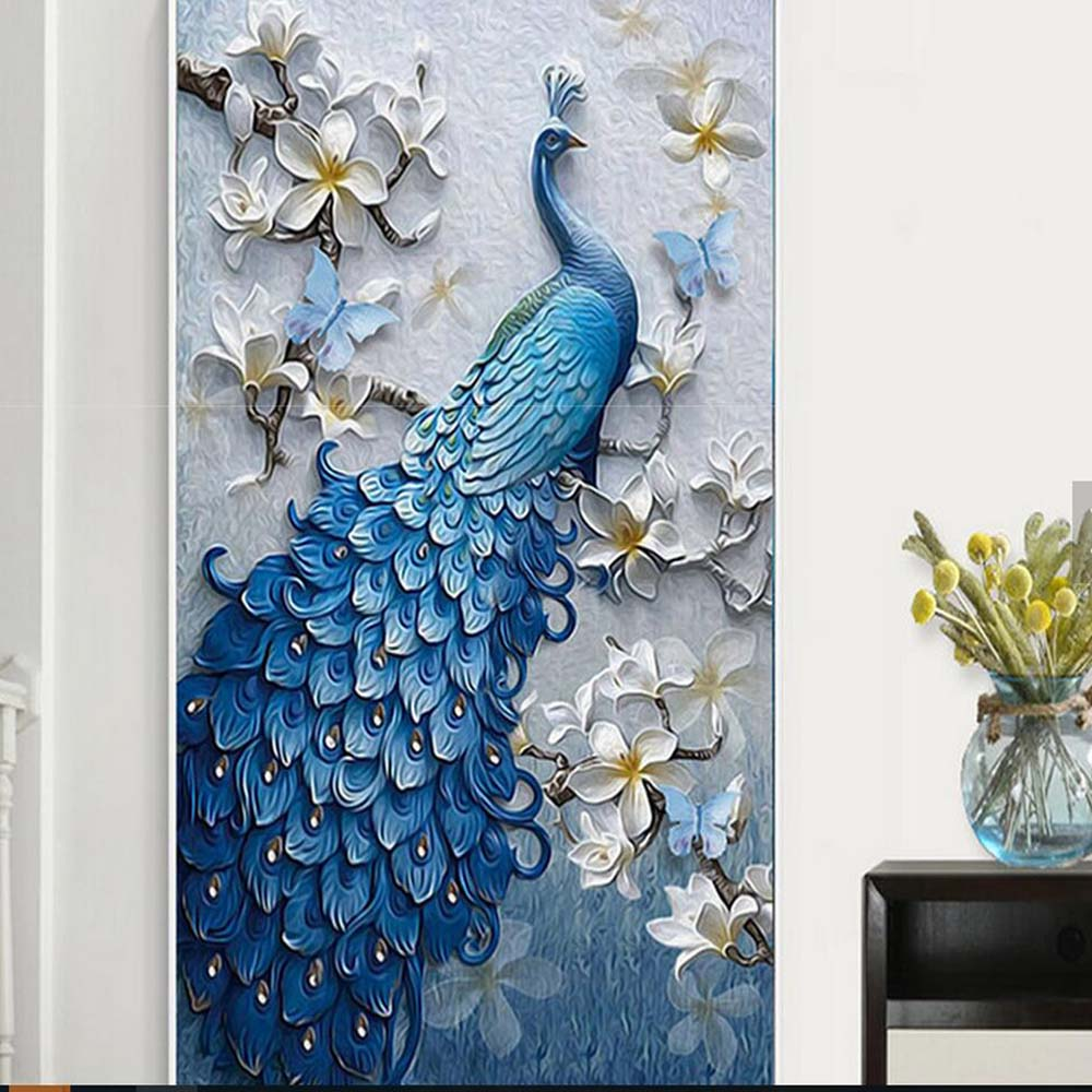 3d embossed peacock bird flower hallway photo wallpaper murals 3d embossed peacock bird flower hallway photo wallpaper murals bedroom entrance photo wall mural wall paper 3d painting peafowl in wallpapers from home amipublicfo Gallery