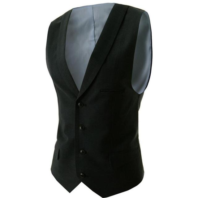 Suit Vest Breasted four Buttons Designer Waistcoats Men Jackets Sleeveless Slim Fit Casual men waistcoat