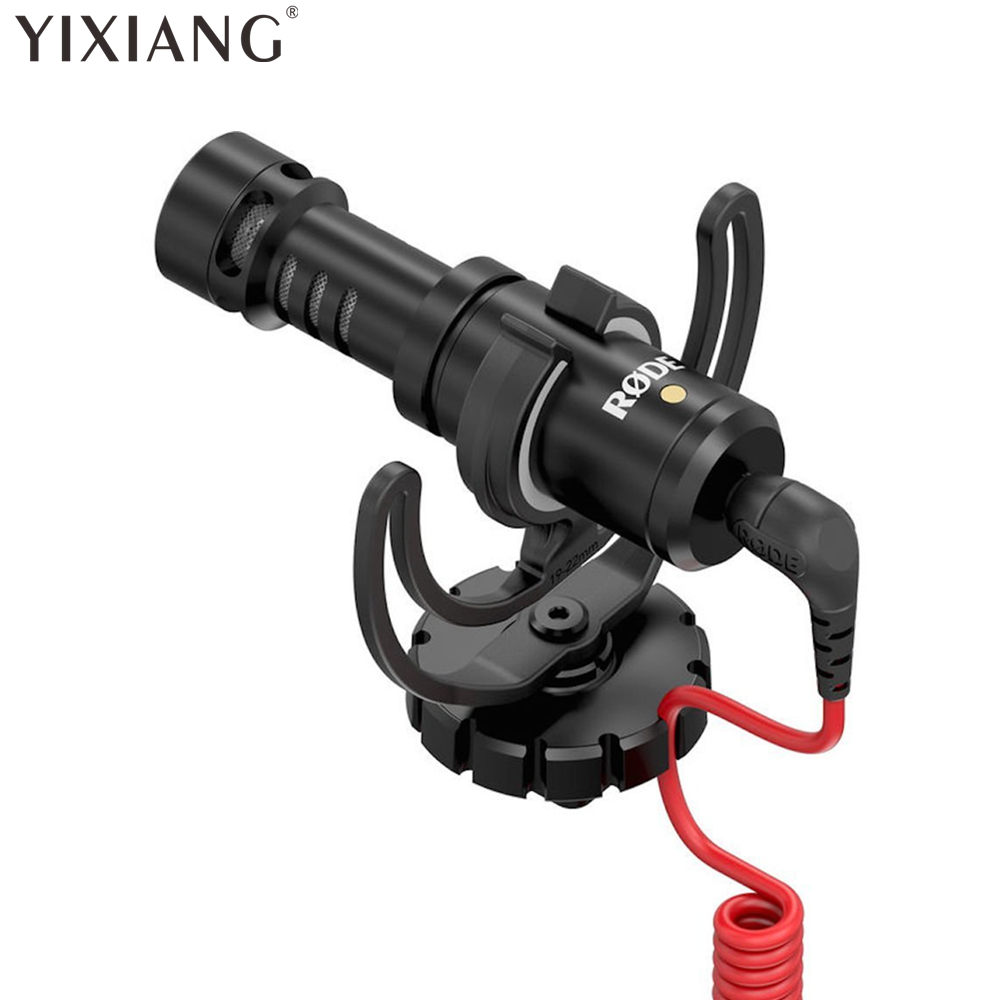 YIXIANG Rode VideoMicro Microphone/Microfone On-Camera Microphone for Canon Nikon Lumix Sony original rode videomicro recording microphone interview microfone with deadcat for canon nikon dslr camera for iphone smooth q