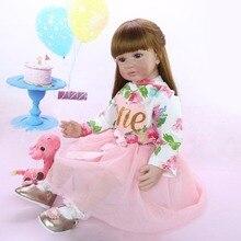 Muñeca bebé Reborn baby girl 60 cm vinilo de silicona reborn baby doll adorable princesa menina de surprice muñeca regalo l ¡! o l