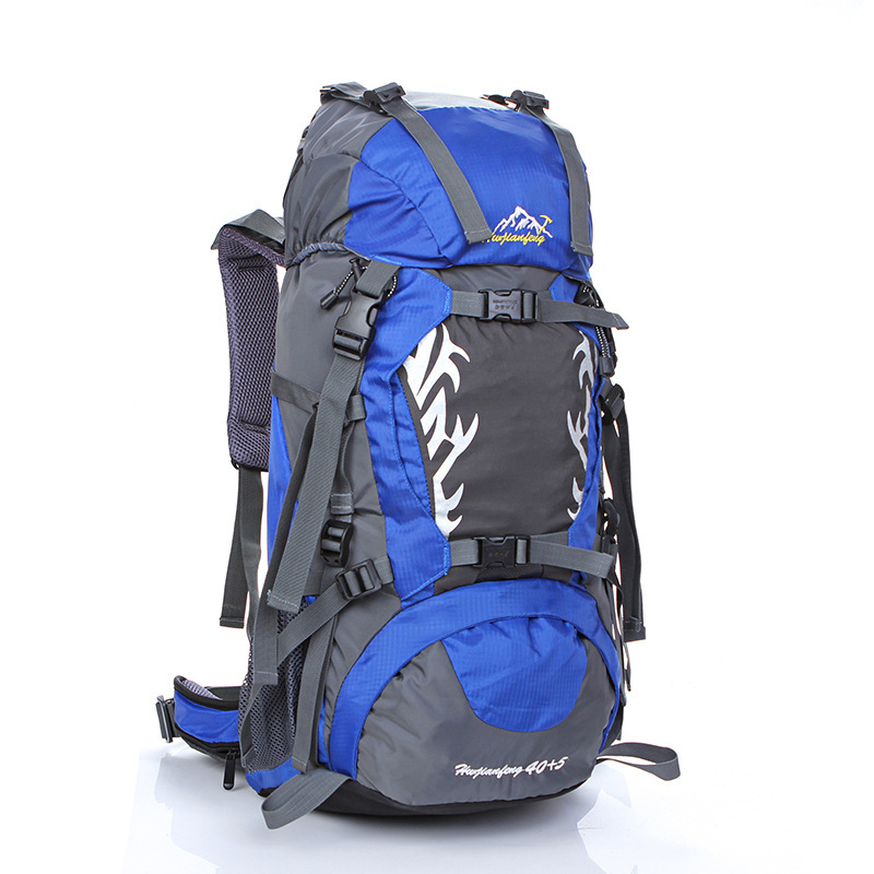 ФОТО New Travel Backpack Large 45L Capacity Hiking Backpack Waterproof Nylon Folding Bag