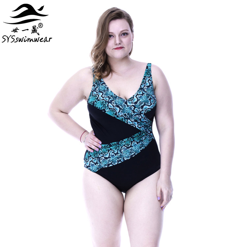 High Quality Plus Size Sexy Backless Snakeskin and Solid Patchwork One Piece Swimwear Big Women Swimsuit 2 Colors Bathing suit plus size scalloped backless one piece swimsuit
