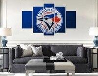 Logo màu xanh Toronto Blue Jays Môn Thể Thao Bóng Chày Đội Mỹ MLB Tường Dầu nghệ thuật Canvas Vẽ Tranh Tường Tác Phẩm Nghệ Thuật cho Phòng Ngủ & Trang Trí Nội Thất
