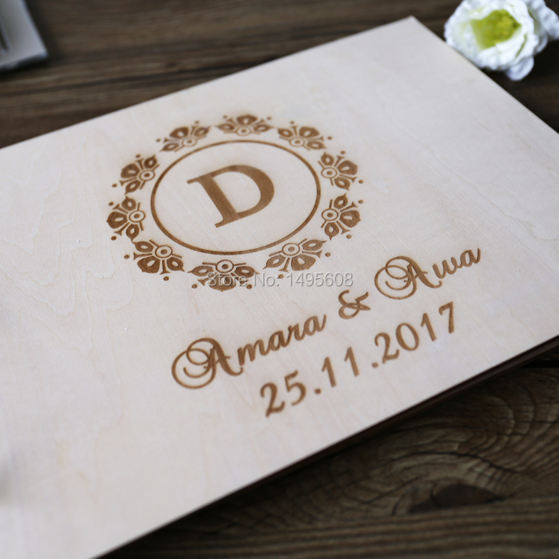 Guest Book Ideas Rustic Wedding Wood Custom Engraved Guestbook Personalized Quinceanera In Signature Books