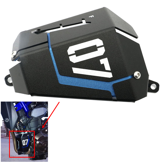 mt07 fz07 motorcycle radiateur side water coolant recovery tank guard cover grille guard for. Black Bedroom Furniture Sets. Home Design Ideas