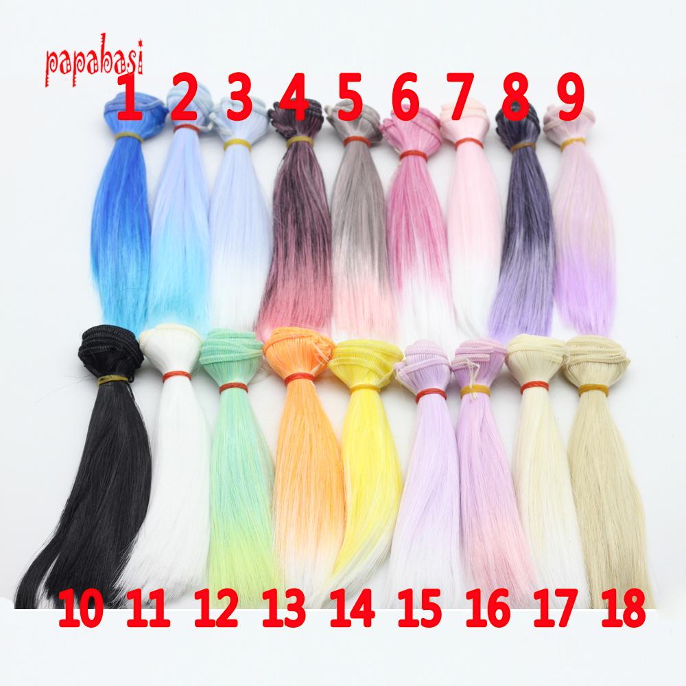 1pcs 15*100cm doll accessories straight synthetic fiber wig/hair for 1/3 1/4 BJD DIY BJD/SD Doll Wigs/hair High-temperature Wire beioufeng 15 5 17cm 1 6 bjd wig short straight doll wigs for dolls accessories fashion student style short synthetic doll hair