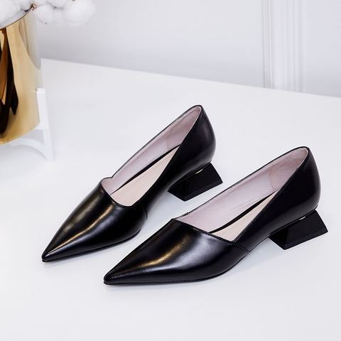 ALLBITEFO fashion pointed toe thick heel women shoes brand high heels party women shoes spring office ladies shoes size:33-43 Multan