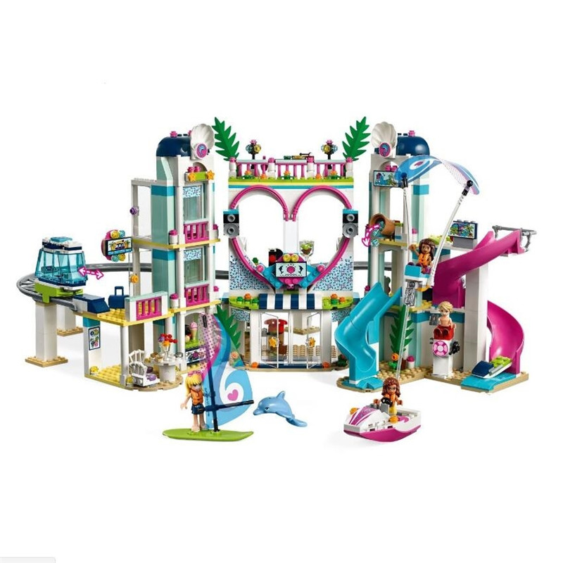 New The Heartlake City Resort Model Compatible With Legoingly Girl Friends 41347 Building Block Brick Toys For Children