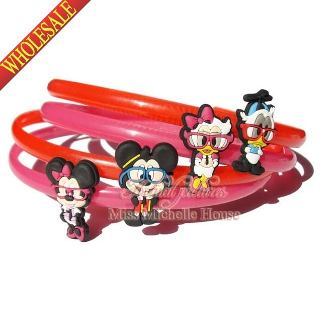 4pcs Mickey Minnie Headband Hair Bands for Girls Women Headwear Hair Accessories hair jewelry Decor Fashion Girls Kid Party Gift