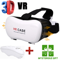 Virtual Reality Smartphone VR 3D Glasses google cardboard Head Mount Box 3D Movie Game 3.5-6.0' VR Case+Bluetooth Remote Control