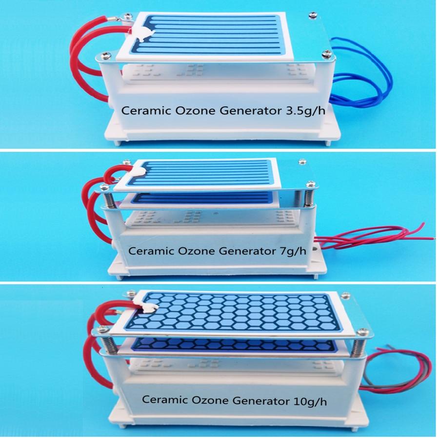 Интегрированный генератор озона воздуха Керамический генератор озона очиститель воздуха части 3.5 Гц/ч 7 Гц/ч 10 Гц/ч AC 220 В/AC110V, DC12V доступны