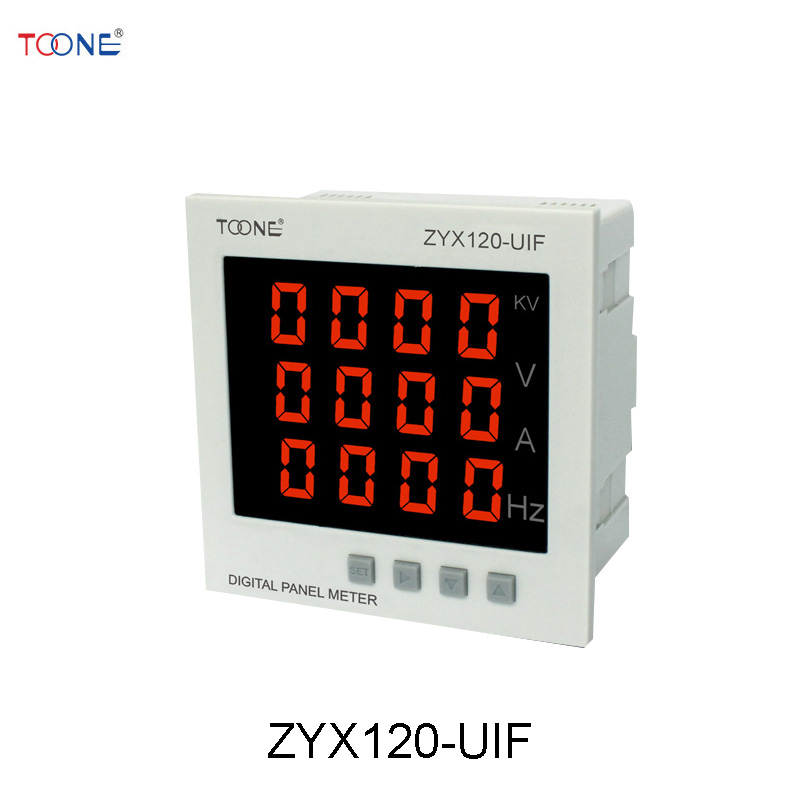 Single-phase AC digital display intelligent current and voltage frequency combination table ZYX120-UIF / SX120 * 120 three phase ac digital display intelligent current and voltage table zyx96 3ui two in one power meter