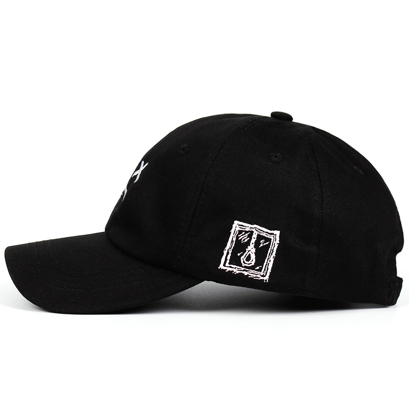 Lil Peep Dad Hat Embroidery 100% Cotton Baseball Cap Sad face Hat xxxtentacion Hip Hop Cap Golf Love lil.peep Snapback Women Men 3