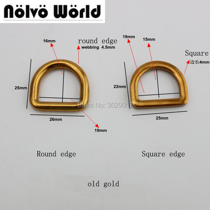 50pcs old gold silver Line 4.5mm  3/4 inch 19mm inside diy bags metal accessory alloy gold round d ring loop for handbag metal  рулетка x line metal 50