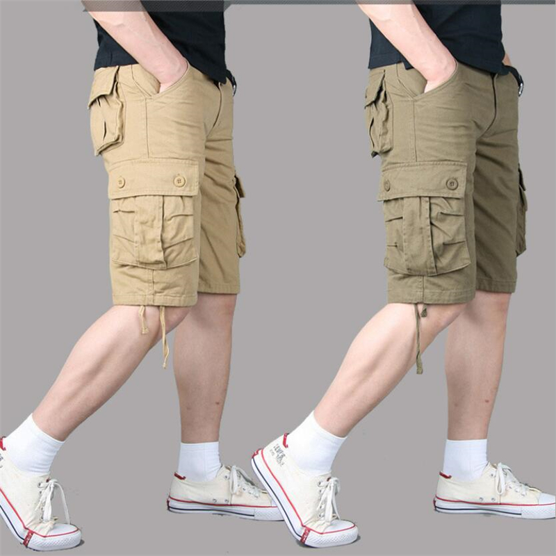 Cargo Shorts Men Summer Casual Loose Shorts Overall Military Combat Baggy Multi-pocket Tactical Shorts Trousers Plus Size 29-44