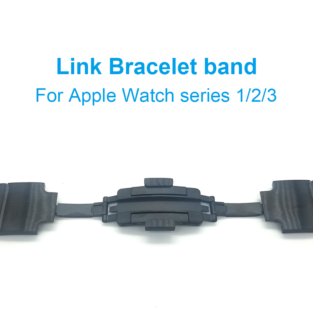 Link Bracelet band For Apple Watch Series 3 / 2 high quality stainless steel watchband strap for Apple watch 42mm 38 high quality black color leather 38 42mm width apple watch strap band for apple watches