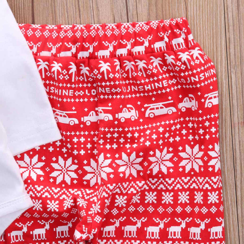 6ef6a1ff68034 Cute Newborn Baby Girls Boys Infant Christmas Print Tops Romper+Snow Pants  Legging+Hat 3pcs Xmas Outfit Set Clothes 0-2Y