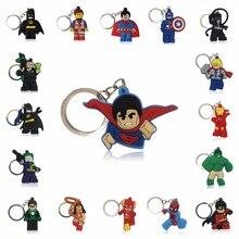 1pcs Super Hero Hulk Superman Batman Spiderman Cartoon Figure Key Ring Chain Kid Toy Pendant Keychain Holder Xmas Gift