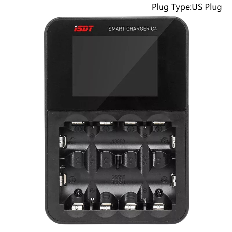 Isdt C4 8A Contact Screen Smart Battery Charger with Usb Output for Aa Aaa Battery with Ips Display Screen and Fire Prevention - 2