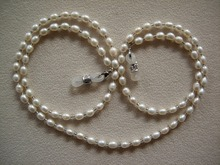 fashionable eyeglass beaded fresh water real pearl necklace chain retainer holder handcrafted sunglass lanyard