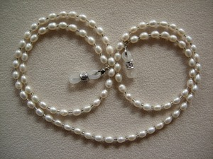 Image 1 - fashionable eyeglass beaded fresh water real pearl necklace chain retainer holder handcrafted sunglass lanyard