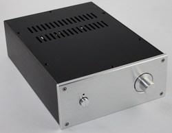 WA38 aluminium przedni dekoder DAC wzmacniacz podwozie/AMP Shell/etui/DIY Box (218*92 * 308mm)