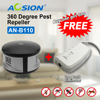 Aosion Electronic 360 Degree Ultrasonic Rat Mouse Repellent Anti Pest Rodent Bug Reject Mole Mice Got