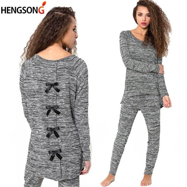 2a3c62a19a Autumn Winter Ladies Pajamas Set Sleep Clothing 2 Pieces Pajamas For Women  Night Suit Pijama Mujer Sleepwear Homewear Nightgown