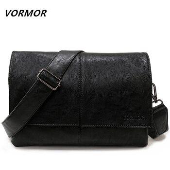 VORMOR бренд повседневное конверт сумки для мужчин Кожаная Сумка через плечо бизнес сумка мессенджер