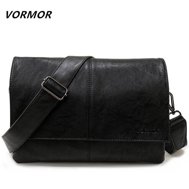 9182f6423e87 VORMOR бренд повседневное конверт сумки для мужчин Кожаная Сумка через  плечо бизнес сумка мессенджер
