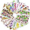 DOCE TENDÊNCIA 48 Folhas Colorido Prego Mixed Art Flor Decalques de Transferência de Água Nail Stickers Cobertura Completa Wraps Manicure Ferramentas A049-096