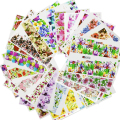 SWEET TREND 48Sheets Colorful Mixed Nail Art Decals Flower Water Transfer Nail Stickers Full Cover Wraps Manicure Tools A049-096
