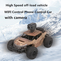 Newest 2.4G WIFI Control 4WD Electric RC Car Rock Crawler Remote Control Car Off load vehicle with 720P HD Camera kid best gifts