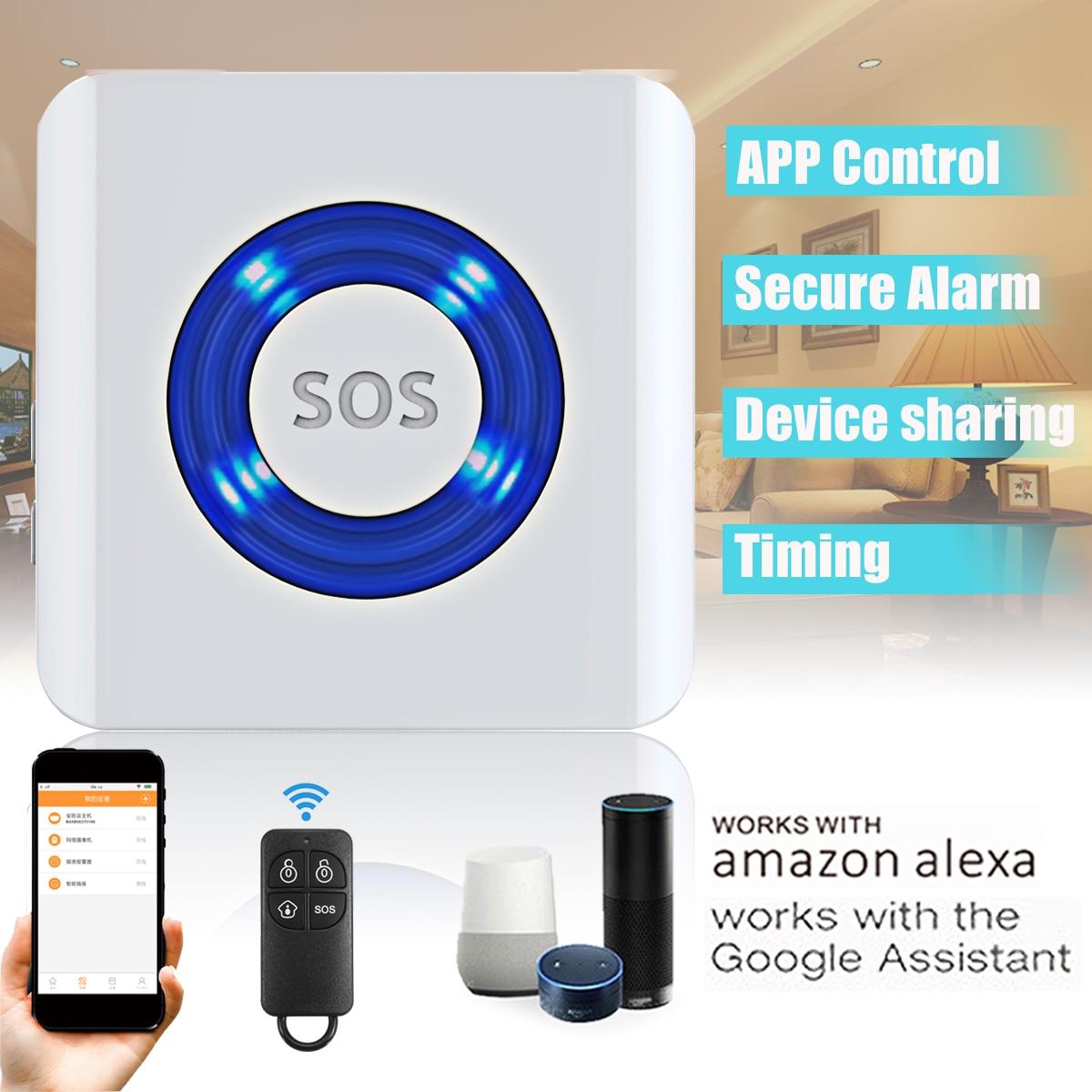 Kinco Smart WIFI de Sécurité À Domicile Alarme APP Système Fonctionne Avec Alexa/Google Maison contrôle vocal Intelligent Accessoires pour La Maison