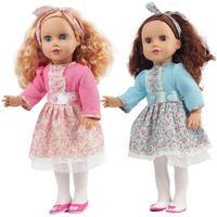 45 cm Baby Doll Vinyl Dễ Thương Mô Phỏng Sống Động Như Thật Con Búp Bê Đứng Ngồi Chơi Giả Vờ Đồ Chơi Cô Gái Quà Tặng Sinh Nhật Bé Doll với ăn mặc
