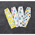 12 color legging kids cartoon baby pants summer girl leggings children summer cute fox bear lemon shark cactus pattern babypants