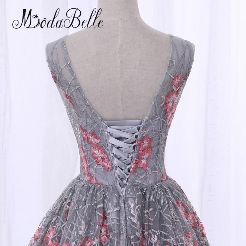 ... modabelle Black Short Front Long Back Flowers Floral Prom Dress Cheap  Junior Girls Scoop Neck Lace 771389d0c3c1