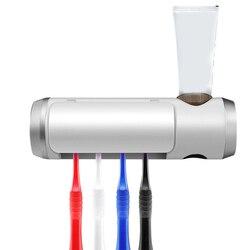 Antibatterico Uv Luce Ultravioletta Spazzolino Da Denti Dispenser Automatico di Dentifricio Spazzolino da denti Sterilizzatore Holder Cleaner