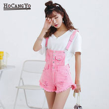 NEW Jumpsuit Women Playsuits Denim Overalls for Womens Rompers Shorts Slim Casual Short Overalls Women Shorts Rompers Tracksuit(China)