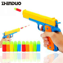 Plastic Soft Bullets Gun Toy Rifle  Manual Short Luminous Sniper Semi-automatic Pistols Outdoor Toys Child